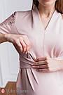 Нарядне плаття для вагітних і годуючих пудровое Юла Мама Mirella DR-49.222 xS, фото 4