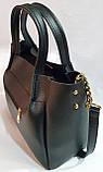 Брендовая женская сумка Michael Kors черно-красная из натуральной замши 29*25 см, фото 2