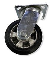 Большегрузное колесо 125 мм. алюминий/резина, поворотный кронштейн