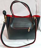 Брендовая женская сумка Michael Kors черная из искусственной кожи 29*25 см, фото 2