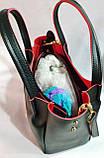 Брендовая женская сумка Michael Kors черная из искусственной кожи 29*25 см, фото 3