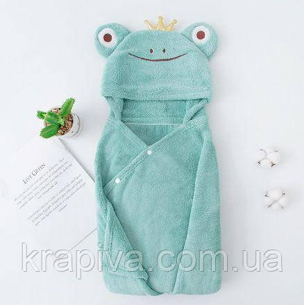 Детское полотенце уголком ПРЕМИУМ 140*75см, Плед рушник дитячий з куточком