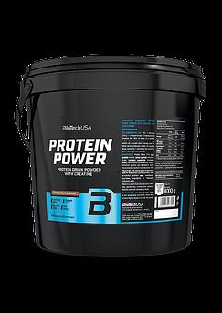 Комплексный протеин BioTech Protein Power (4000 г) биотеч павер клубника-банан