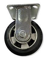 Большегрузное колесо 125 мм. алюминий/резина, неповоротный кронштейн