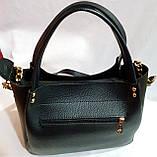 Брендовая женская сумка Michael Kors бордовая из натуральной замши 27*23 см, фото 3