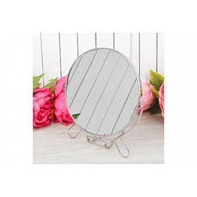 Двустороннее косметическое зеркало для макияжа на подставке Two-Side Mirror 16 см (418-6)