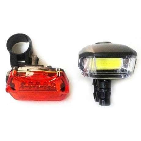 Велосипедный фонарь BL 508 (передний и задний), освещение для велосипеда, с доставкой по Украине