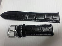 Ремешок  кожаный 24мм Genuin Leather black