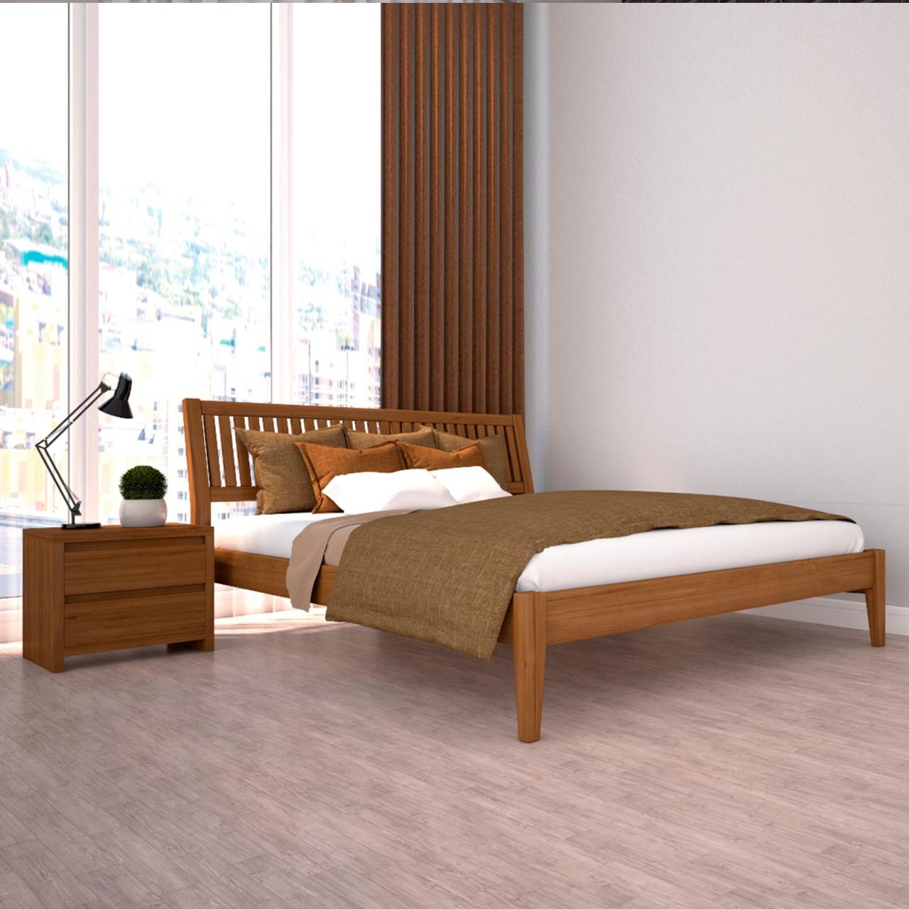 Ліжко дерев'яна Офелія двоспальне (масив дерева)