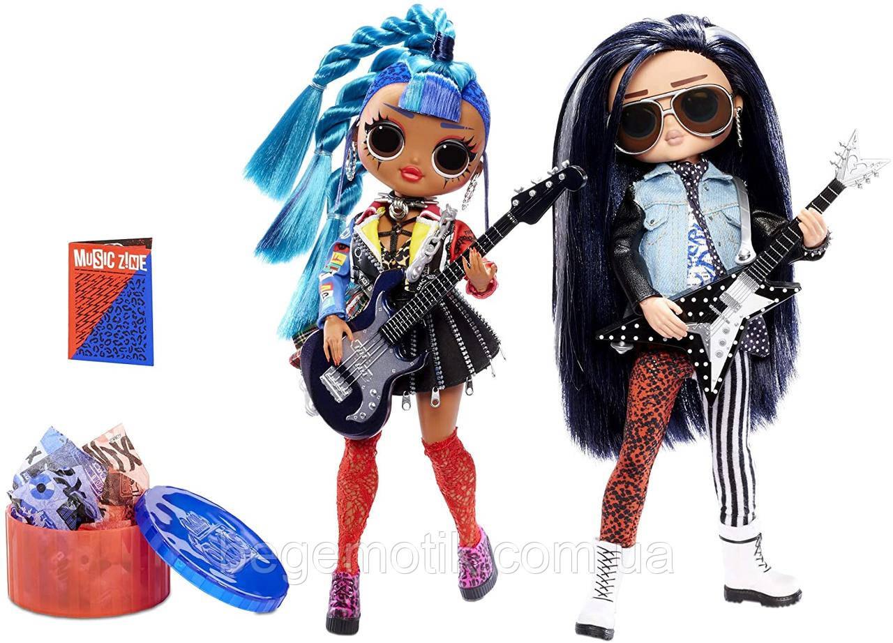 Игровой набор с куклами ЛОЛ ОМГ Ремикс Рок Дуэт L.O.L. Surprise! O.M.G. Remix Rocker Boi and Punk Grrrl