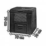 Компостер Keter E-Composter Without Base 470 L ( компостер садовый ), фото 8