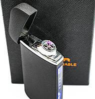 USB зажигалка электродуговая (ZGP 22 Матовая) сенсорная электрозажигалка аккумуляторная, фото 1