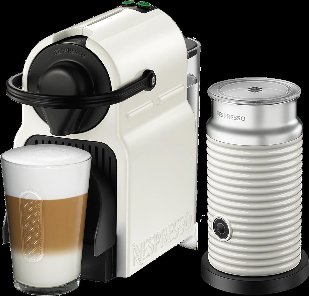 Кофемашина Nespresso Inissia White D40 & Aeroccino 3 White + доставка бесплат+дегустационный набор (14 капсул)