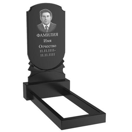Гранітний пам'ятник на могилу одинарний (100-50-5) Про-56