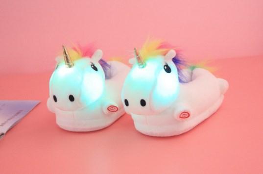 Дитячі тапочки іграшки Єдинороги білі,31-35