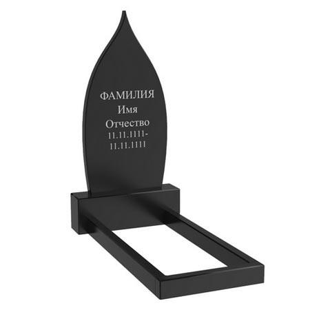 Гранітний пам'ятник на могилу одинарний (100-50-5) Про-57