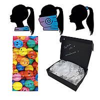 Багаторазова захисна маска-бафф СМАЙЛИ, засіб індивідуального захисту шарф