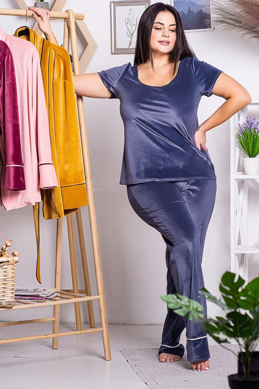 Брючная пижама П1319 Серый