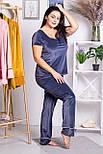 Брючная пижама П1319 Серый, фото 3