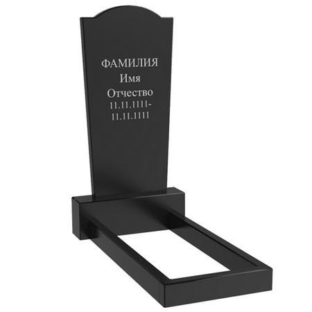 Гранітний пам'ятник на могилу одинарний (100-50-5) Про-58