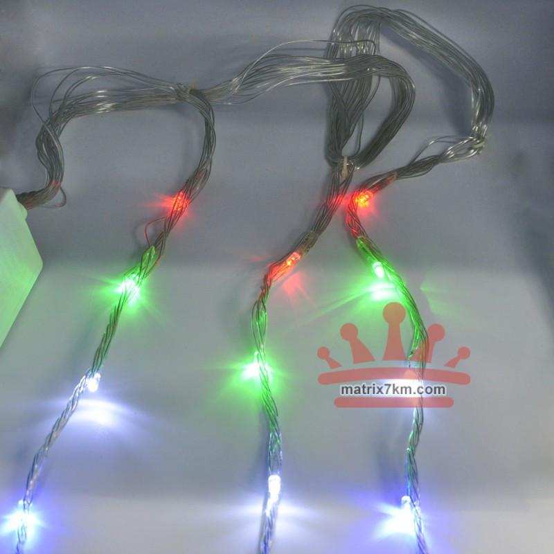 Гирлянда-водопад (Curtain-Lights) Itrains 240M-2 внутренняя, пров.:прозрачный, 2*2м (Разноцветная)