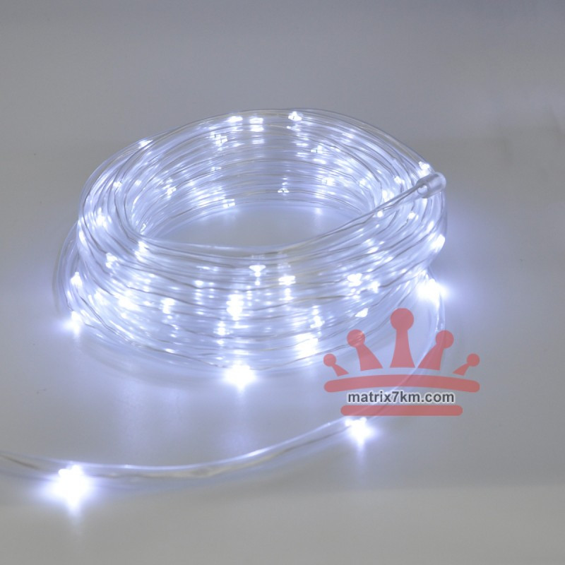 Гирлянда-лента (Rope-Lights) Copper Wire100W-3 наружная, пров.:прозрачный, 10м (Белый)