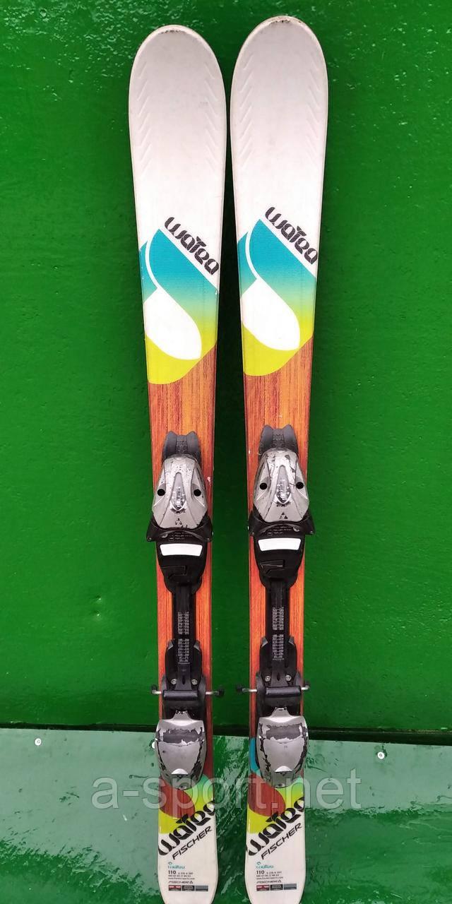 Гірські лижі бу Fisher wotea 110 см для карвінгу
