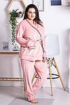 Комплект женский плюшевый XXL+ К1301 Розовый 3XL (52-54), фото 2