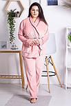 Комплект женский плюшевый XXL+ К1301 Розовый 3XL (52-54), фото 3