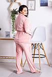 Комплект женский плюшевый XXL+ К1301 Розовый 3XL (52-54), фото 4