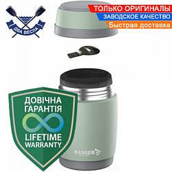 Пищевой термос для еды Expert Food 0,5 L металлический термос для рыбалки сталь+пищ-й пластик + складная ложка