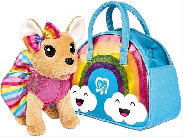 Собачка в сумке радуга
