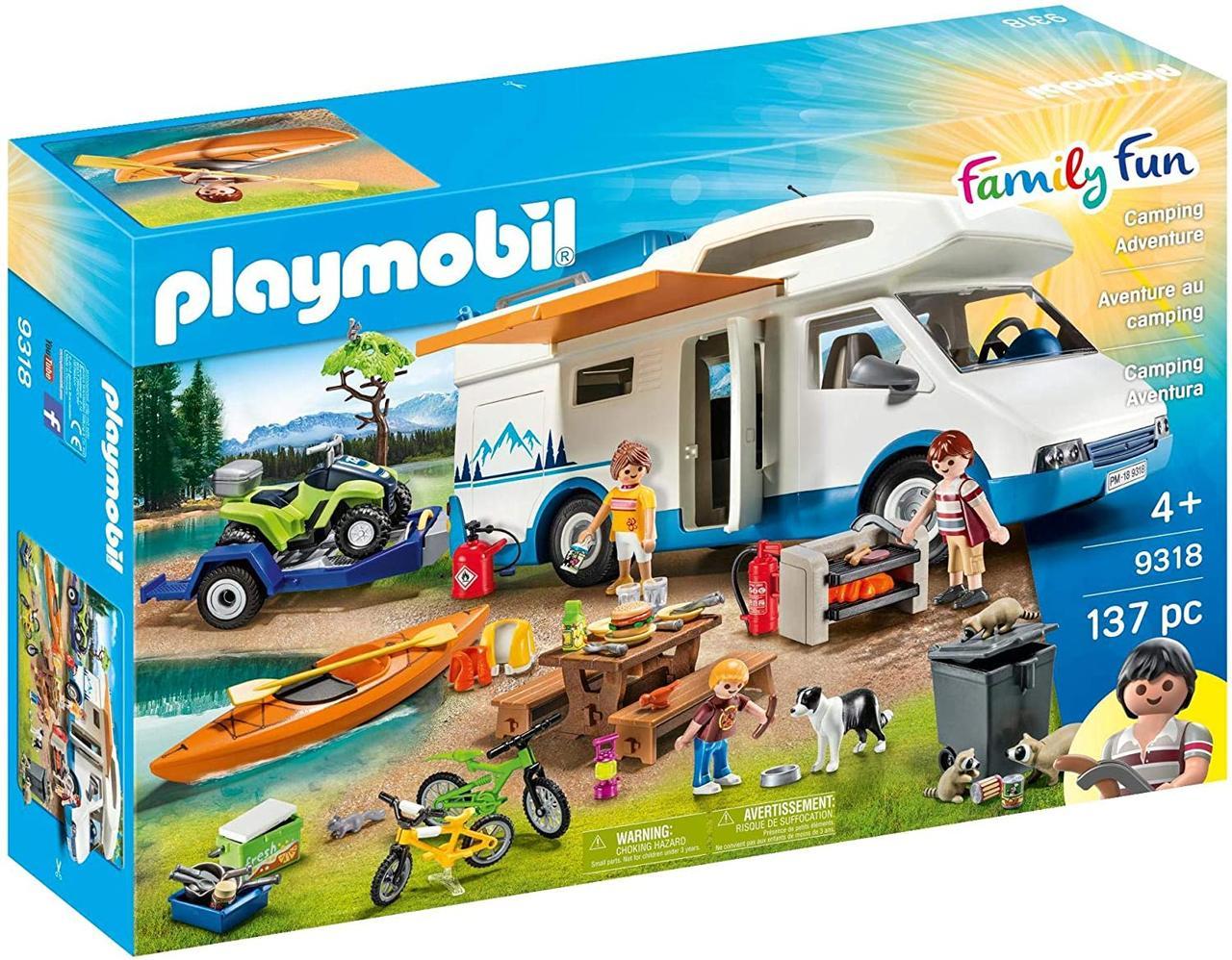 Плеймобил Семейный отдых Приключение в кемпинге Playmobil Family Fun Camping Adventure 9318