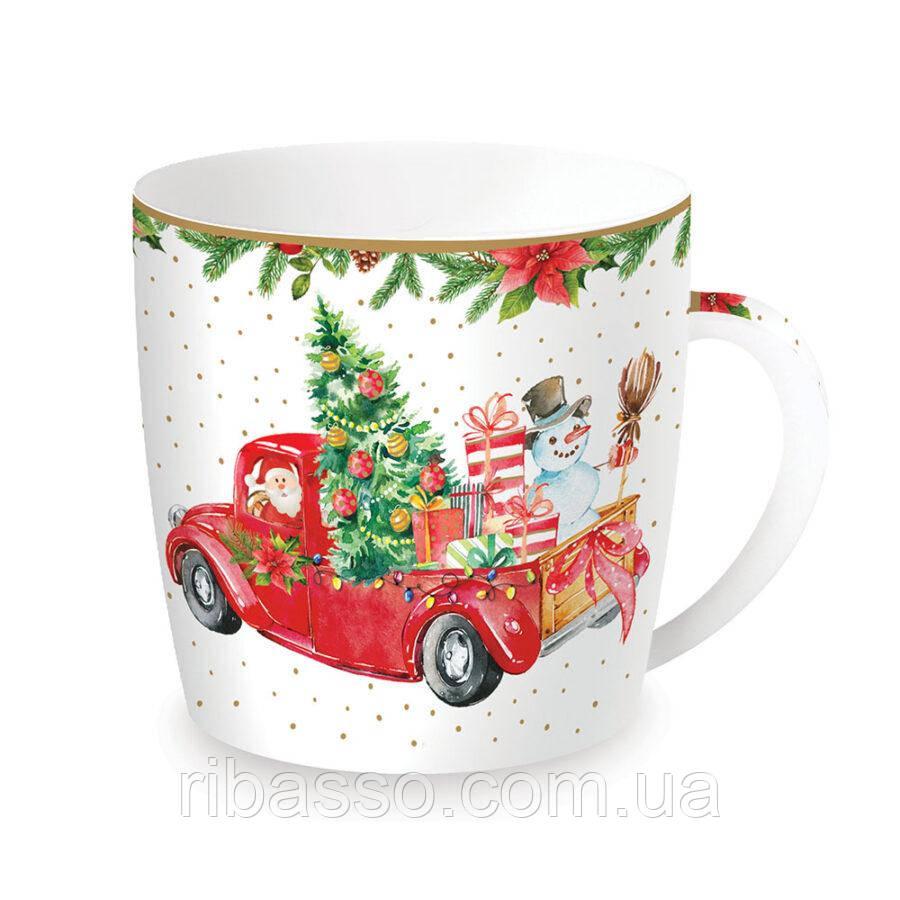 "Easy Life Чашка ""Время Рождества Санта и Снеговик"""