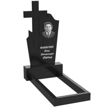 Памятник из гранита на могилу одинарный (120-60-5) О-61