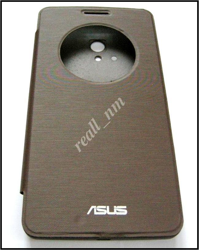 Коричневый чехол View Flip Cover для смартфона Asus ZenFone 6