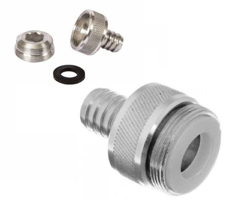 Перехідник на кран, змішувач з адаптером під внутрішню, і зовнішню різьбу (штуцер 6 мм.)