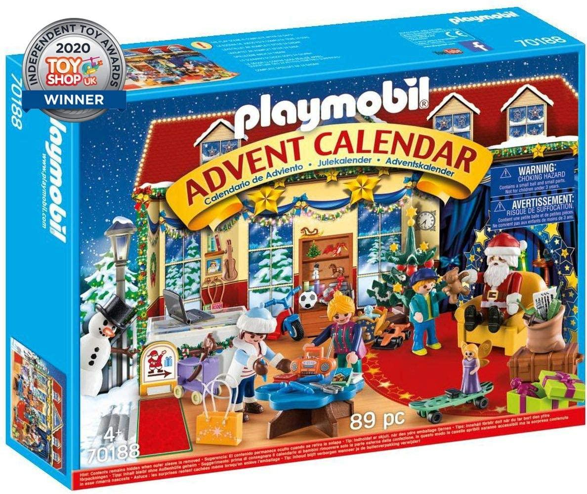 Плеймобил Адвент календарь Рождество в магазине игрушек  Playmobile Advent Calendar Christmas Toy Store 70188