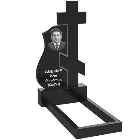 Памятник из гранита на могилу одинарный (120-60-5) О-63