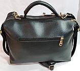 Брендовая женская сумка Zara с золотой фурнитурой и на 2 молнии 30*21 см (распродажа) черно-красная, фото 2