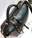 Брендовая женская сумка Zara с золотой фурнитурой и на 2 молнии 30*21 см (распродажа) черно-красная, фото 3