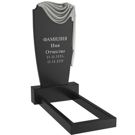 Пам'ятник з граніту на могилу одинарний (120-60-5) Про-65