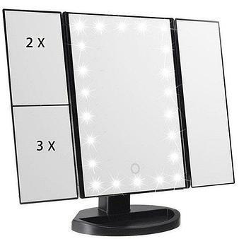Зеркало Superstar Magnifying Mirror для макияжа с LED-подсветкой.