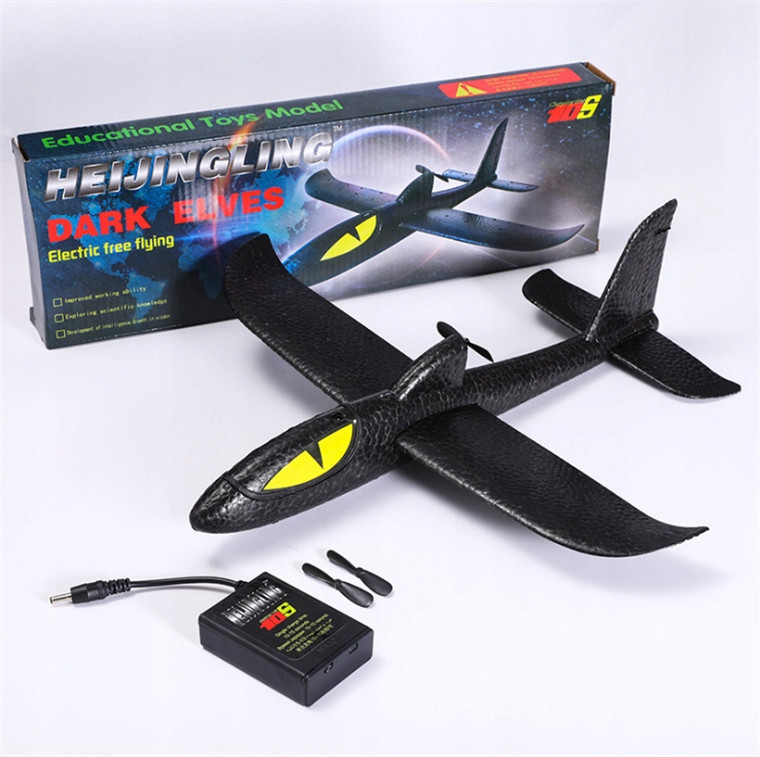 Самолет-планер Акула Dark Elves с моторчиком