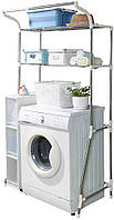Стеллаж над стиральной машиной на 2 полки с регулируемой шириной (от 62 до 101 см), фото 1