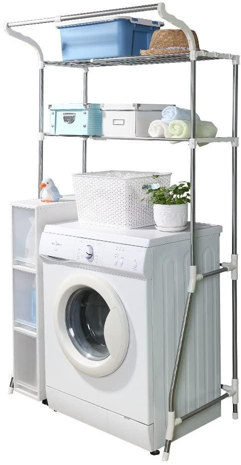 Стеллаж над стиральной машиной на 2 полки с регулируемой шириной (от 62 до 101 см)