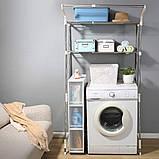 Стеллаж над стиральной машиной на 2 полки с регулируемой шириной (от 62 до 101 см), фото 2