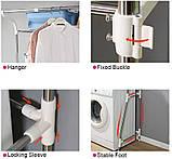 Стеллаж над стиральной машиной на 2 полки с регулируемой шириной (от 62 до 101 см), фото 4