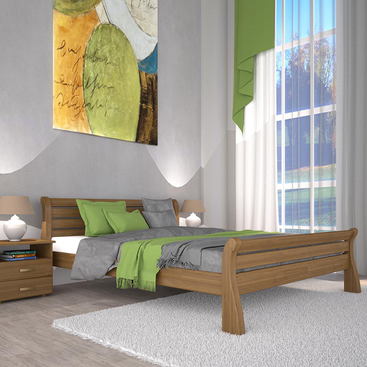Кровать деревянная Ретро-1 односпальная