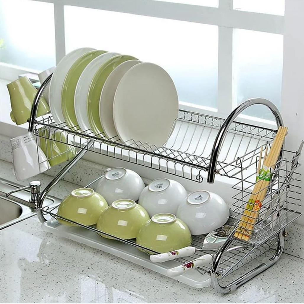 Полка - сушилка Стойка для хранения посуды kitchen storage rack